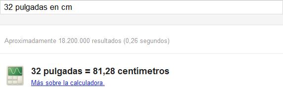 Google Convertir unidades
