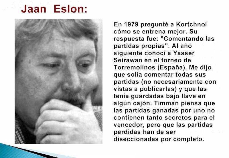 Jaan Eslon y el entrenamiento