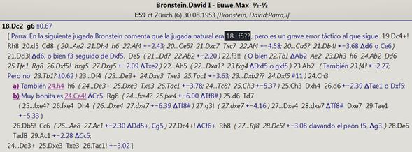 ChessBase, análisis Bronstein-Euwe