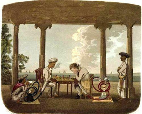 'Ajedrez en la India'. Grabado, 1791-1798. Charles Gold