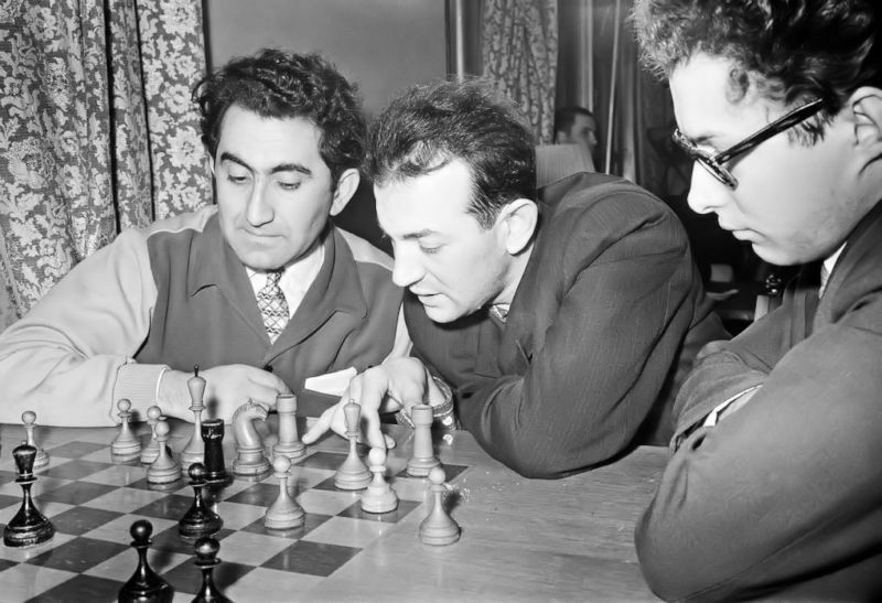 1961 Match revancha Botvínnik-Tal (Moscú). Petrosián, Korchnoi y Vasyukov
