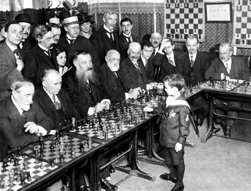 París, 1920. Simultáneas Reshevsky