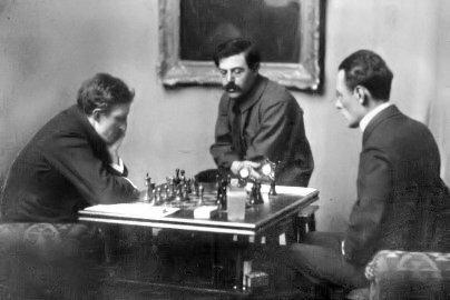 Match contra Marshall 1908