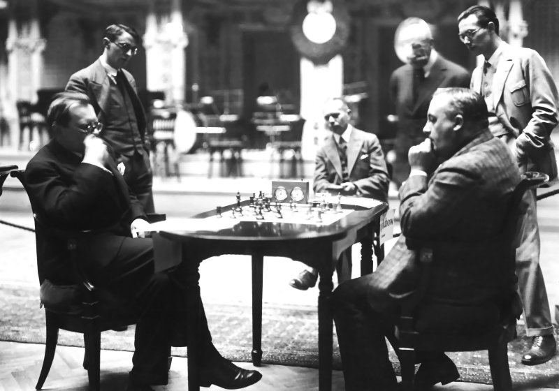 San Remo 1930. Bogoljubow-Alekhine