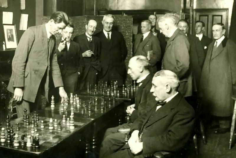 Simultáneas Maróczy 1924