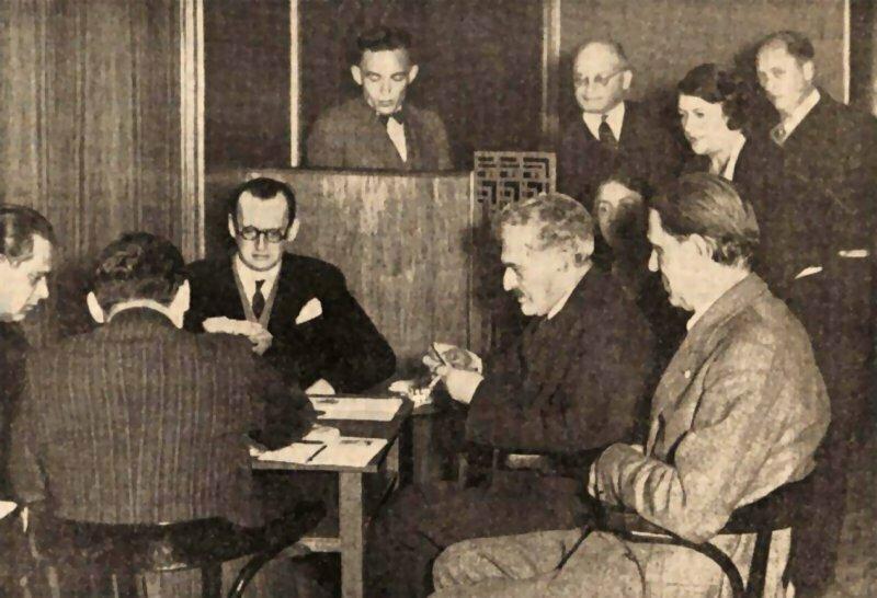1935 partida de bridge: Landau, Alekhine, Lásker, Maróczy, Tartakówer