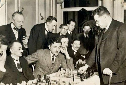 Simultáneas Réti en Bruselas 1924